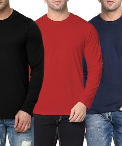 mens round neck long sleeve t shirts