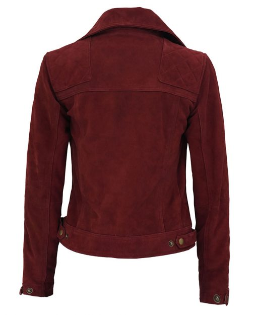 Biker Suede Leather Jacket Women