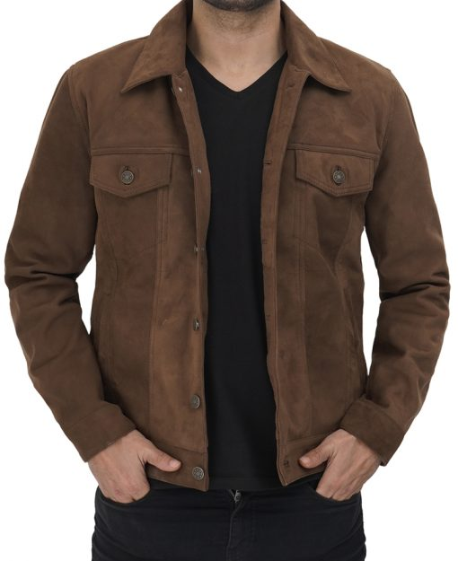Brown Suede Jacket Mens