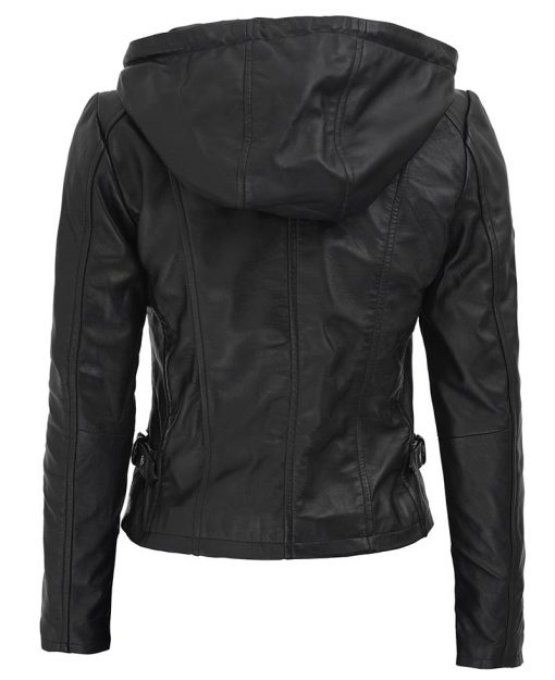 Lambskin Leather Jacket With Hood