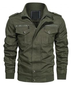 Olive Green Bomber Jacket Mens