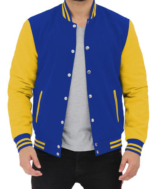 Royal Blue and Yellow Letterman Jacket