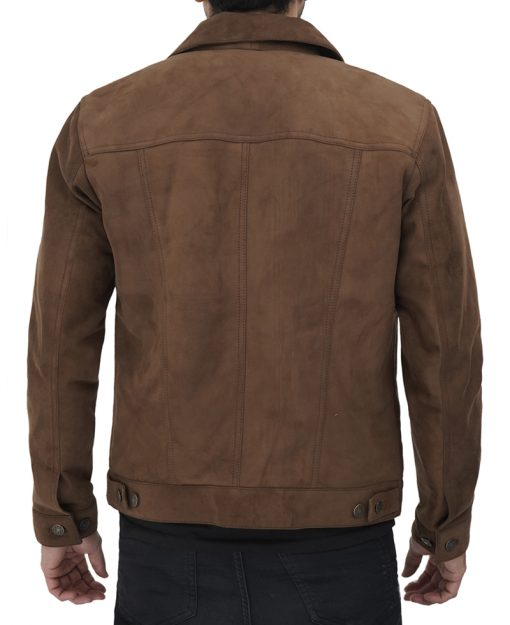 Trucker Jacket Brown Mens