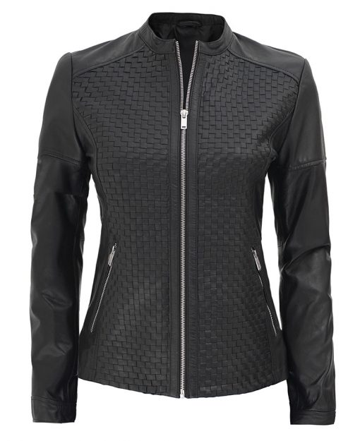 Womens Slim Fit Black Leather Jacket