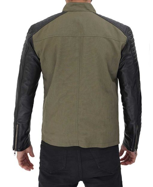 green and black cotton jacket