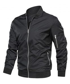 mens biker style cotton bomber jacket men
