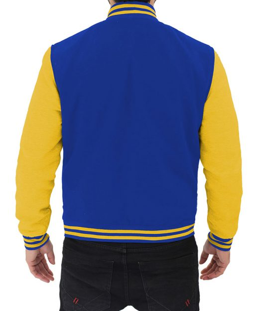 mens blue and yellow jacket