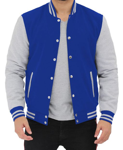 royal blue varsity jacket men