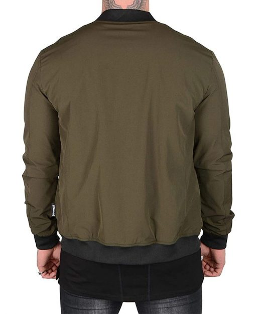 Lightweight Mens Bomber Jacket Green
