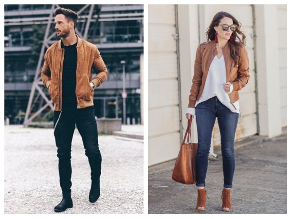 Brown Bomber Leather Jackets