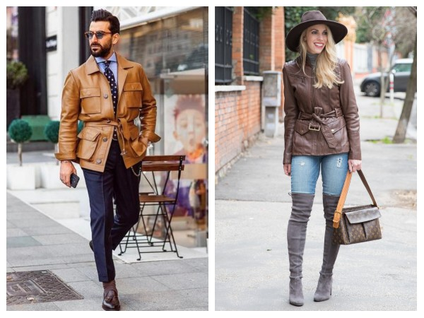 Brown Field Leather Jackets