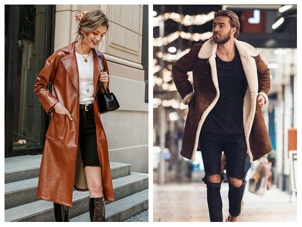 Brown Leather coats