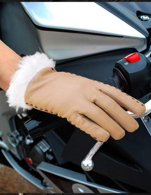 Brown Tan Leather Gloves