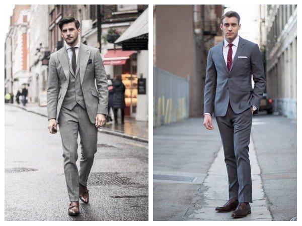 Gray Premium Mens Suit