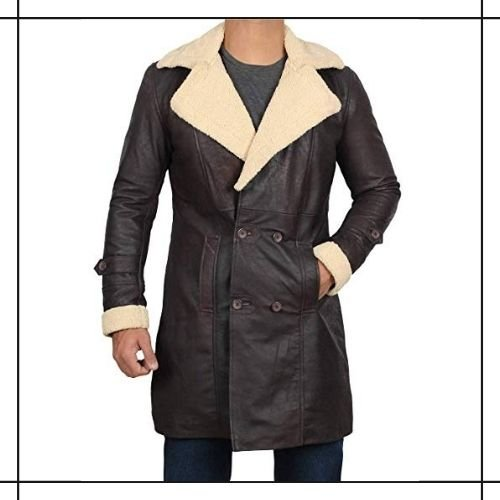 Shearling Leather Duster Coat
