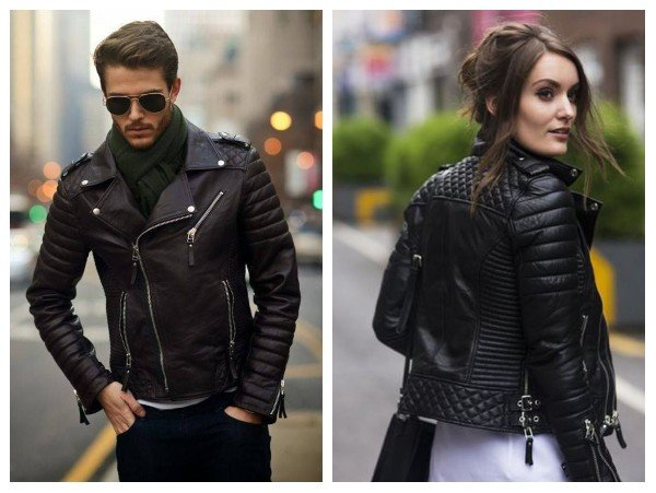 asymmetrical quilted leather jacket