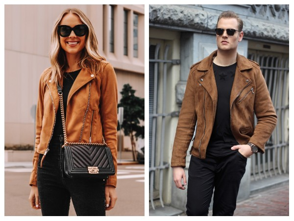 asymmetrical suede leather jacket