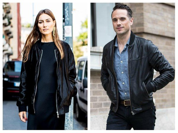 black bomber leather jacket outfits
