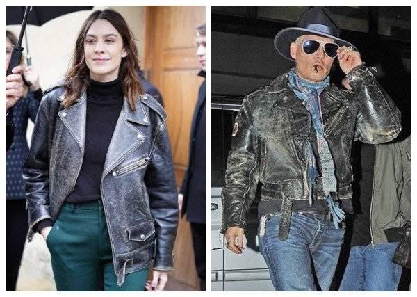 black distressed leather jacket