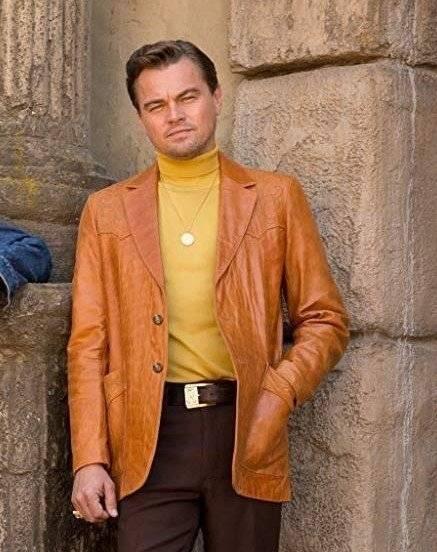 brown leather blazer men