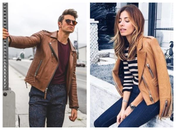 motorcycle leather jackets brown