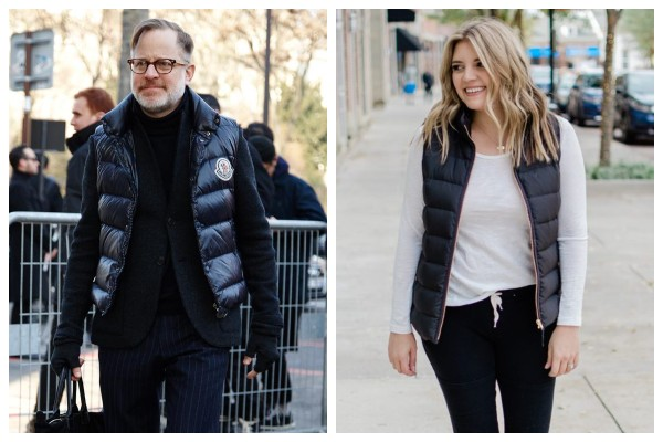 Leather Puffer Vest